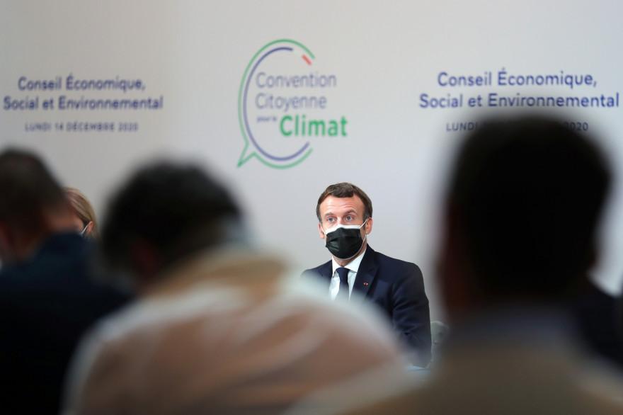 Emmanuel Macron devant la Convention citoyenne pour le climat le 14 décembre 2020