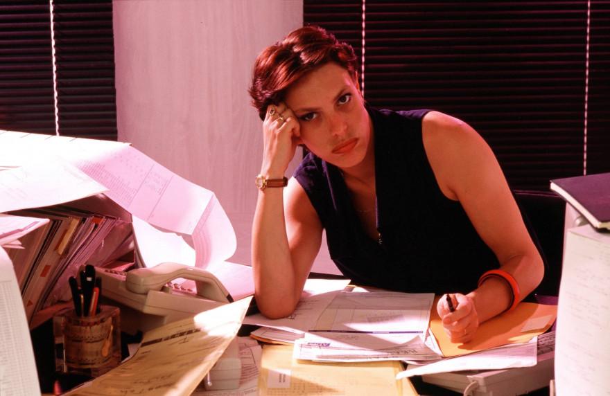 L'ennui au bureau (illustration)