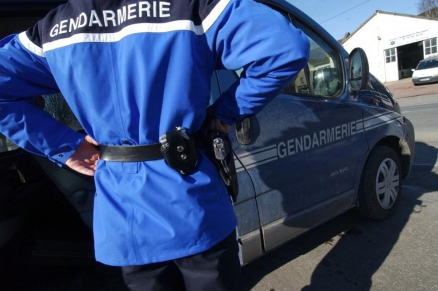Un gendarme en France (illustration)