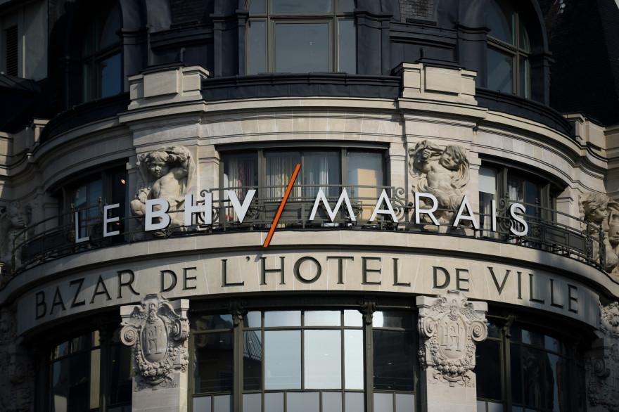 Le BHV-Marais à Paris le 18 mars 2016