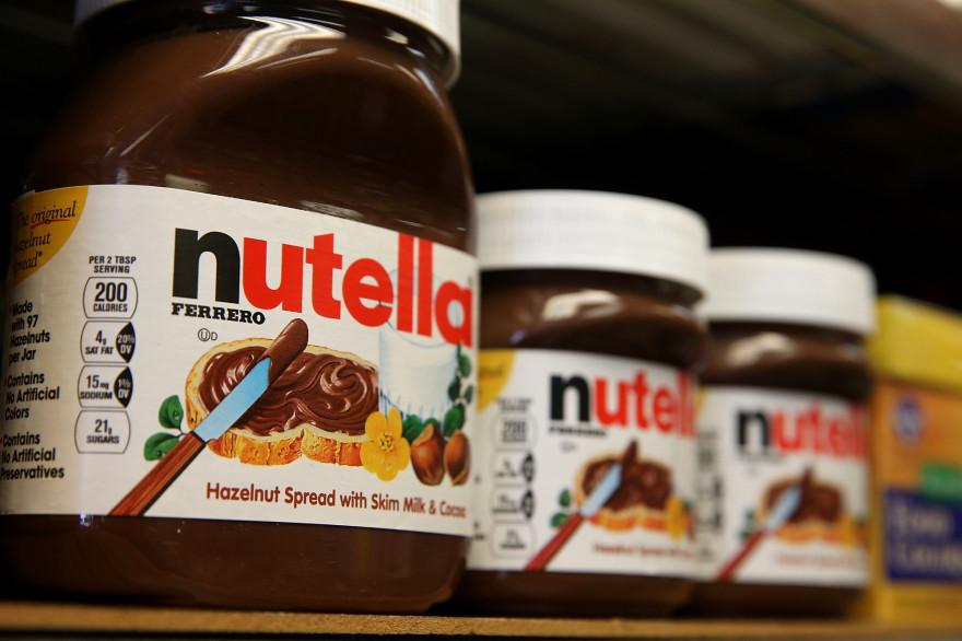Des pots de la marque Nutella (image d'illustration)