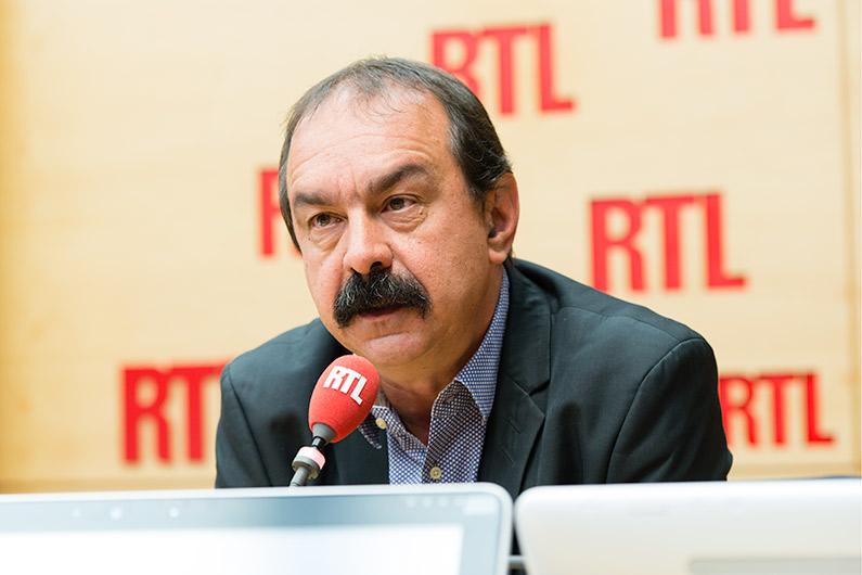 Philippe Martinez, invité de RTL le 23 mai 2016