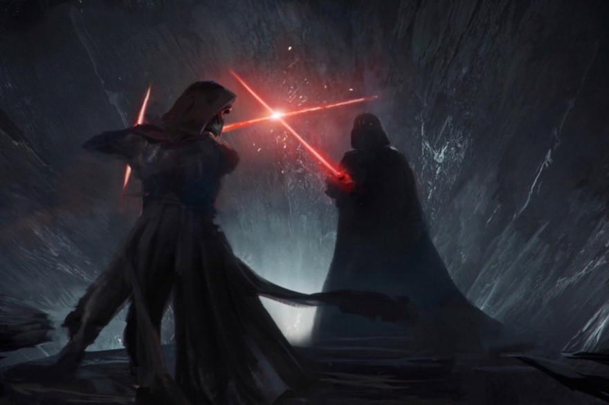 """Kylo Ren face à Dark Vador dans la première version de """"Star Wars 9"""""""