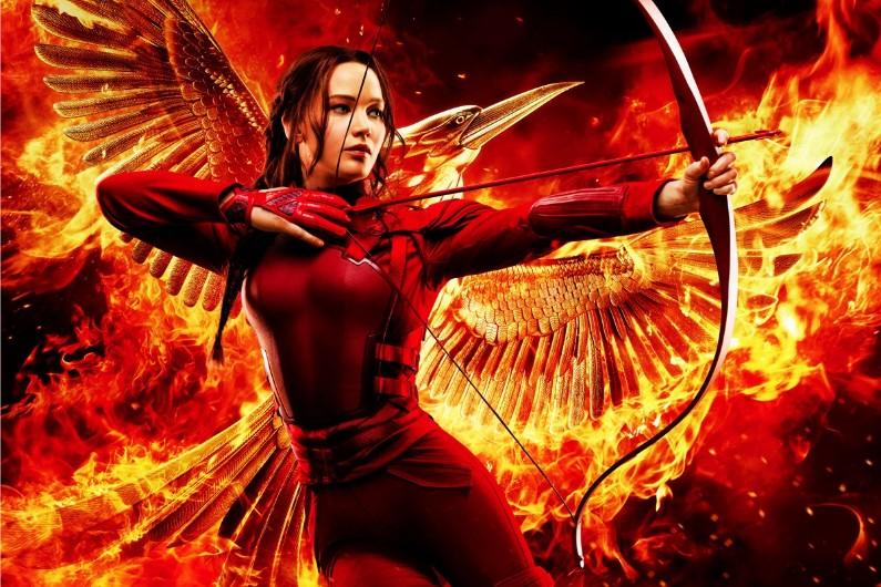 """Jennifer Lawrence en Katniss Everdeen dans la dernière partie de """"Hunger Games"""""""