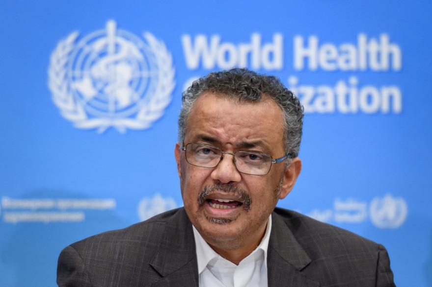 Tedros Adhanom Ghebreyesus, directeur de l'OMS (Organisation Mondiale de la Santé) lors d'une conférence à Genève, le 30 janvier 2020