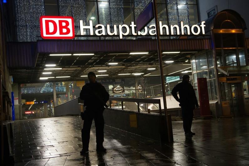 La gare de Munich fermée au public, le 31 décembre 2015, en raison d'un risque d'attentat.