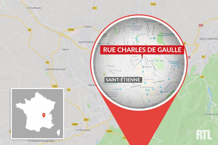 Une carte de Saint-Étienne (illustration)