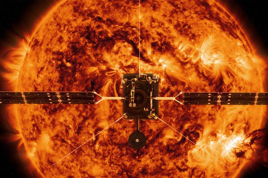 Image d'illustration de la mission Solar Orbiter à 40 millions de kilomètres du Soleil