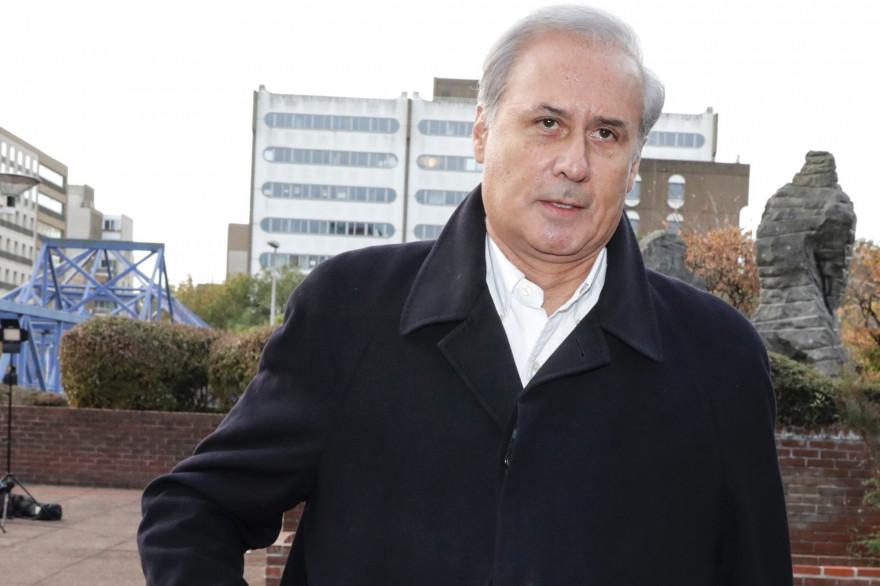 L'ancien secrétaire d'État et maire en exercice de Draveil (Essonne) Georges Tron lors de son procès mardi 23 octobre 2018