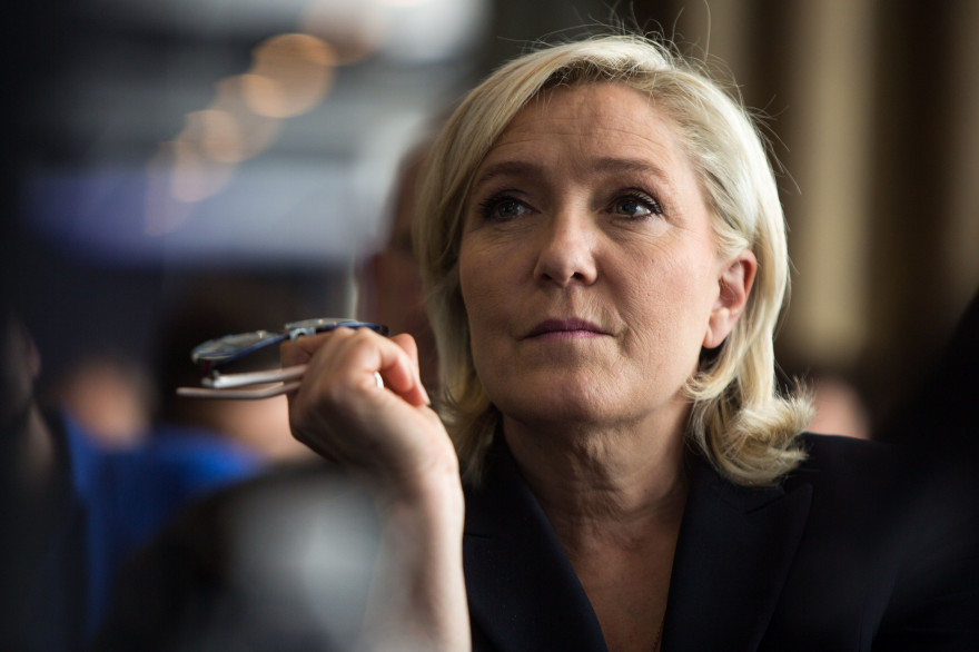 Marine Le Pen, présidente du Front national, à Paris le 17 mai 2016