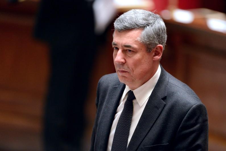 Henri Guaino quittant l'Assemblée nationale, le 26 mars 2013 (archives)