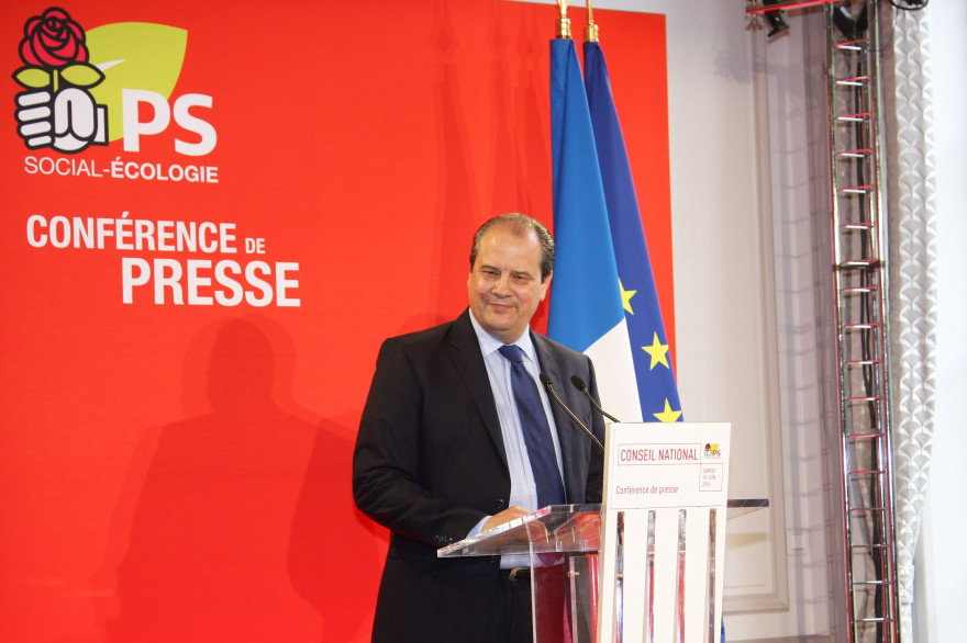 Jean-Christophe Cambadélis, au siège du Parti socialiste le 18 juin 2016