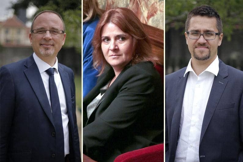 Les députés socialistes Yann Galut, Isabelle Bruneau et Alexis Bachelay