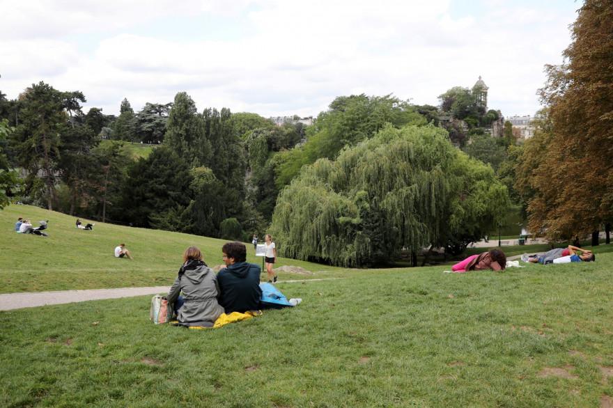 Le parc des Buttes Chaumont, à Paris (illustration)
