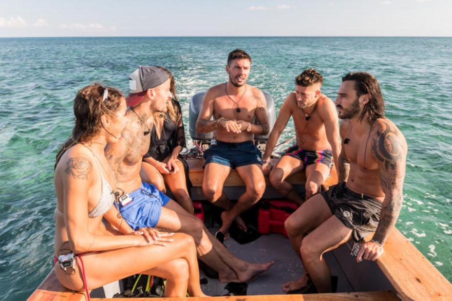 Les Marseillais pendant une sortie en mer
