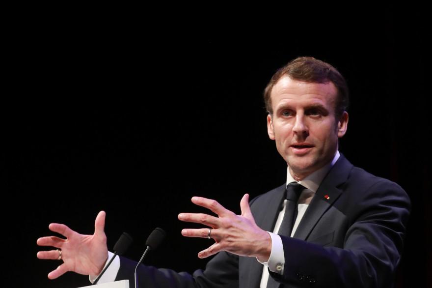 Emmanuel Macron à Angoulême, le 30 janvier 2020.