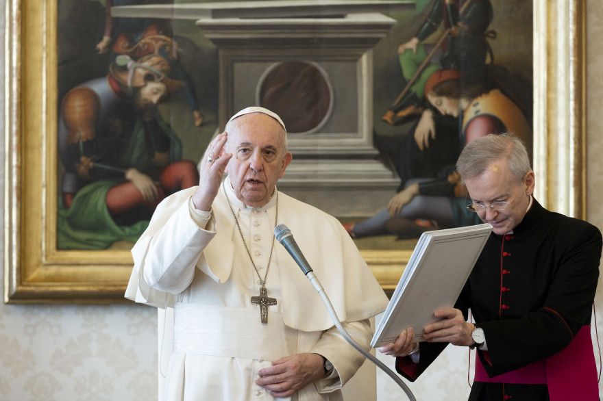 Le Pape François, le 18 mars 2020