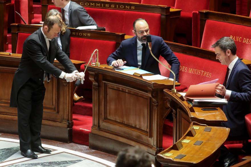 Edouard Philippe et Olivier Véran, à l'Assemblée nationale le 21 mars 2020