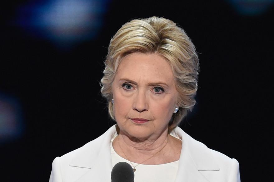 Hillary Clinton lors de la convention nationale démocrate