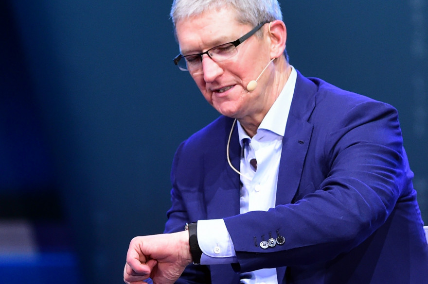 Tim Cook, le PDG d'Apple (illustration)