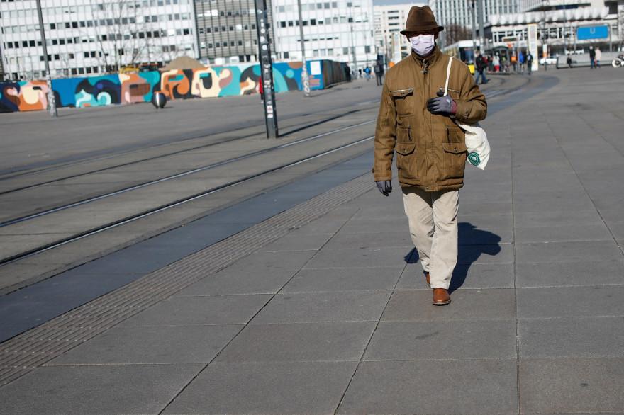 L'Alexanderplatz à Berlin, le 25 mars 2020.