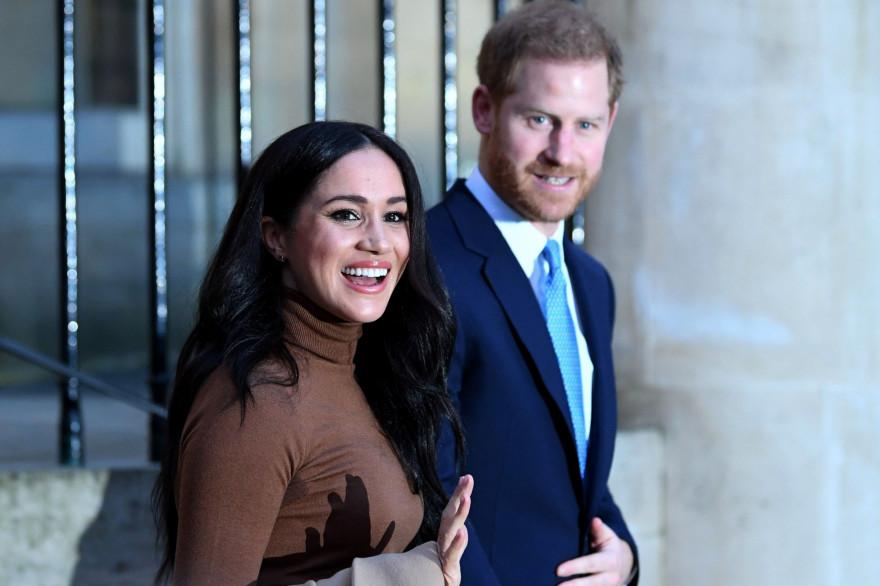 Le prince Harry et Meghan, duc et duchesse de Sussex, à la maison du Canada à Londres, le 7 janvier 2020.