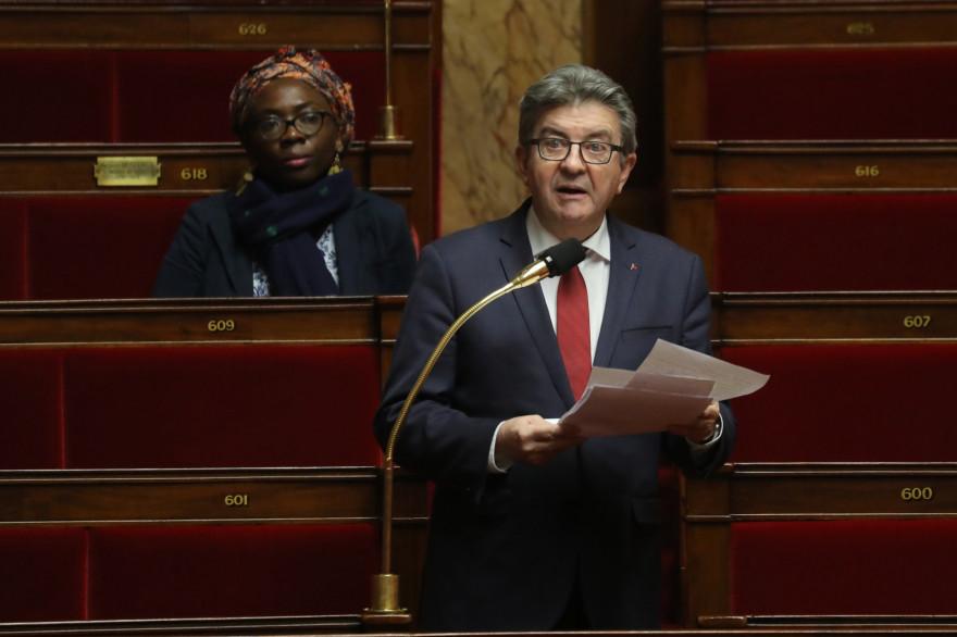 Jean-Luc Mélenchon, à l'Assemblée nationale le 22 mars 2020