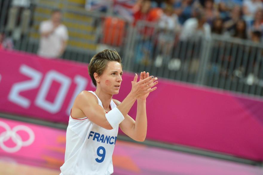Céline Dumerc, lors des Jeux Olympiques de Londres en 2012