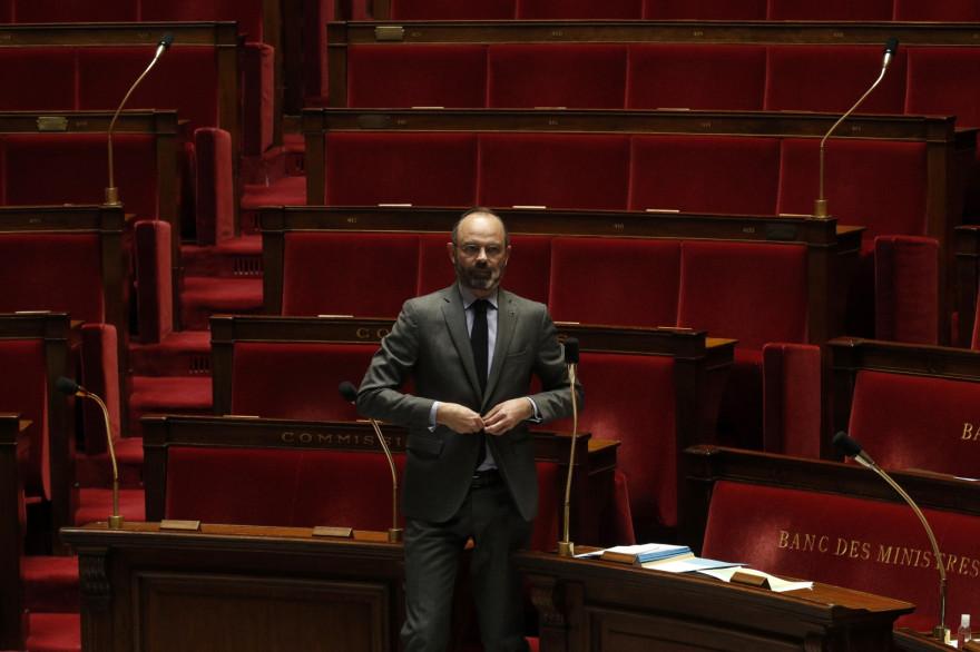 Edouard Philippe à l'Assemblée, le 31 mars 2020.