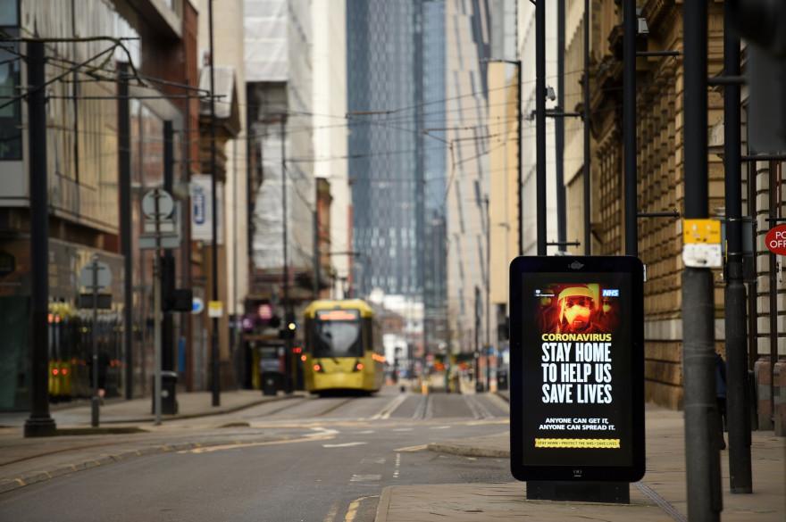 Manchester en plein confinement pour lutter contre l'épidémie de coronavirus