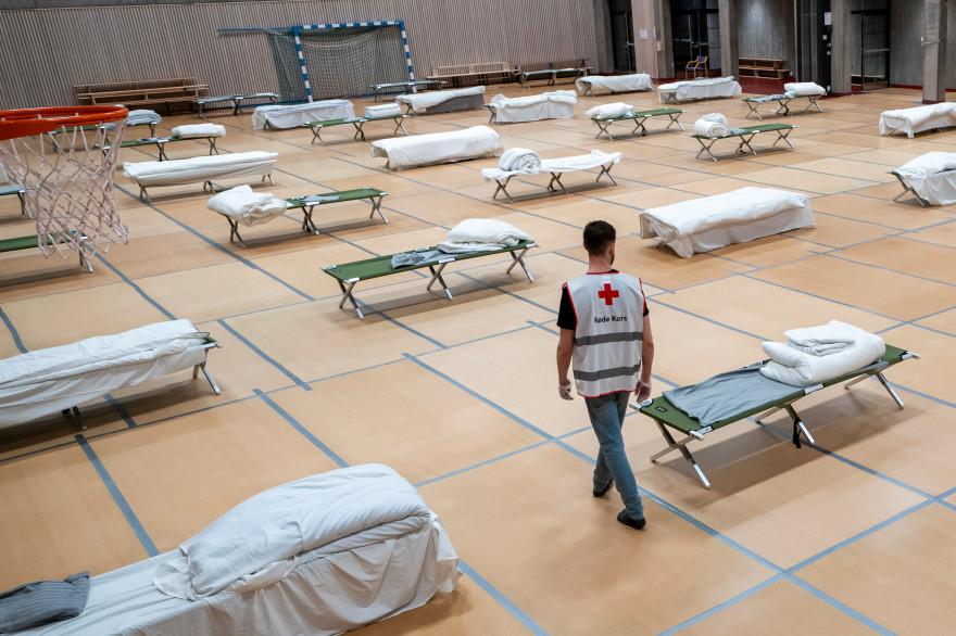 Un gymnase norvégien transformé en centre d'accueil pour sans-abri en Norvège (illustration)