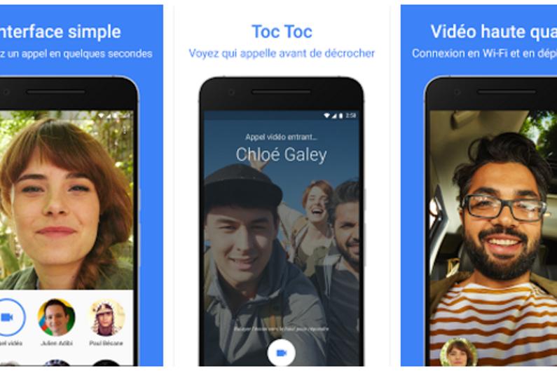 Présentation de la nouvelle application Google Duo sur Google Play.