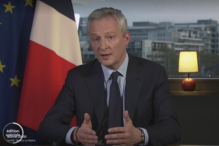 Le ministre de l'Economie Bruno Le Maire sur France 2 le 8 avril 2020
