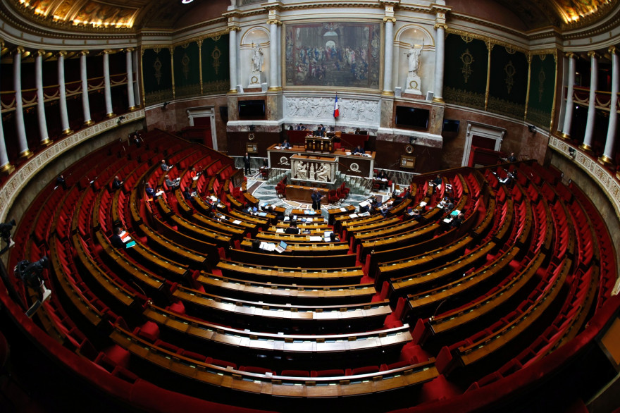L'Assemblée nationale, le 17 avril 2020