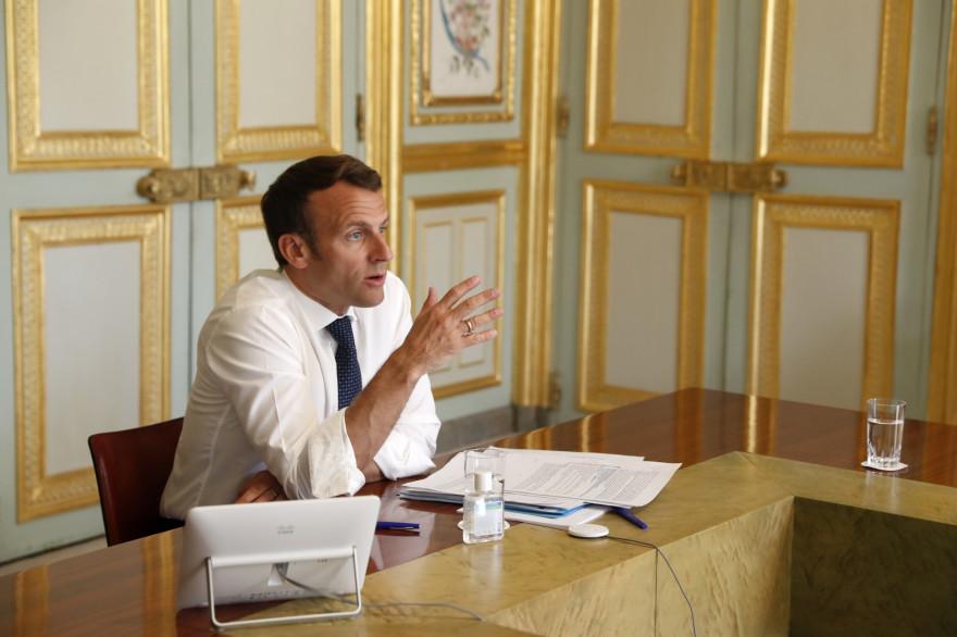 Emmanuel Macron, le 16 avril 2020
