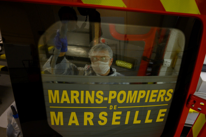 Un marin pompier à Marseille (illustration)