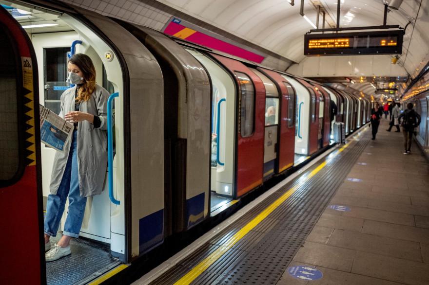 Le métro de Londres, pendant la crise du coronavirus, le 22 avril 2020
