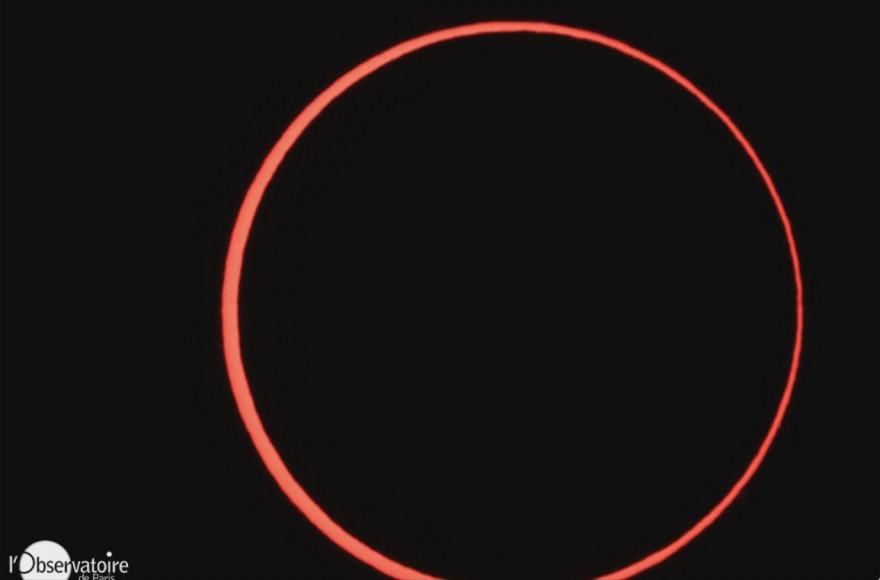 L'éclipse captée par l'Observatoire de Paris, le 1er septembre 2016