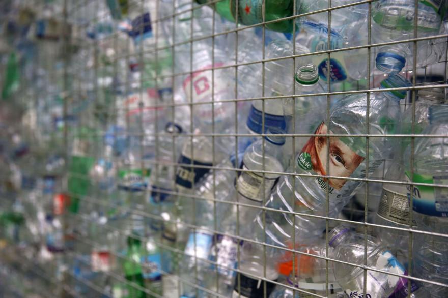 Des bouteilles en plastique (illustration)