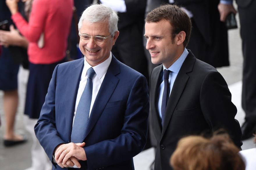 Claude Bartolone et Emmanuel Macron, le 14 juillet 2016