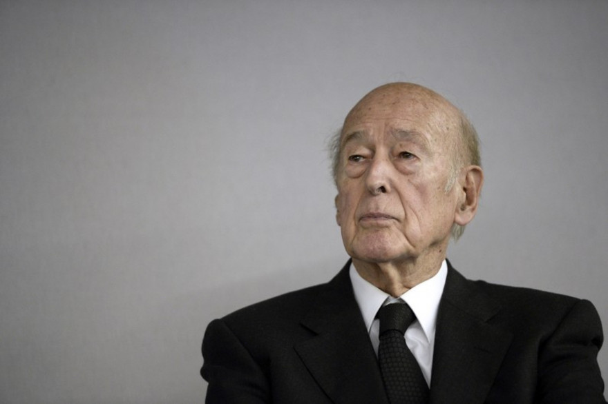 Valery Giscard d'Estaing au Bourget, le 14 octobre 2014.