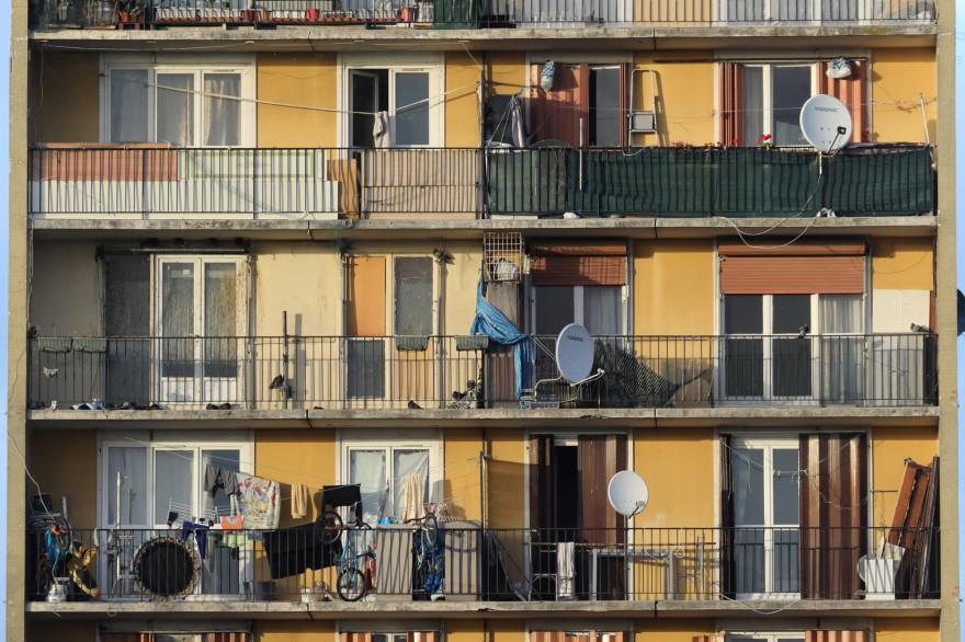 Les balcons d'un immeuble (illustration)