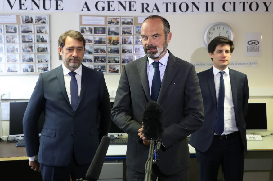 Christophe Castaner, Édouard Philippe et Julien Denormandie, le 9 juin 2020