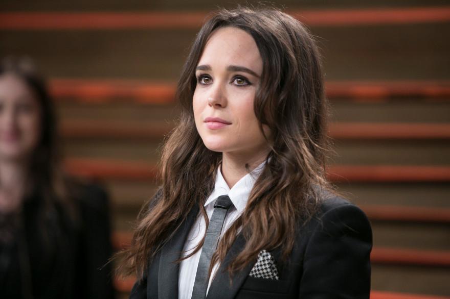 """Ellen Page lors de la soirée """"Vanity Fair"""", un moment des Oscars, en 2014"""