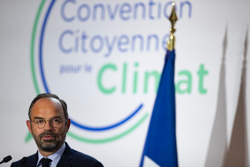 Édouard Philippe, lors du lancement de la Convention citoyenne pour le climat, le 4 octobre 2019