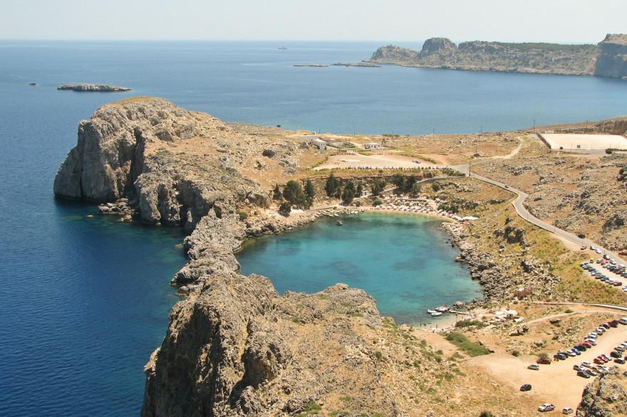 L'île de Rhodes, en Grèce (Illustration).
