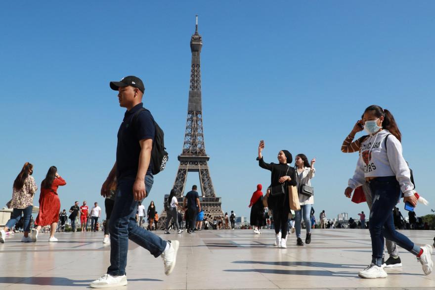 La place du Trocadéro à Paris, le 22 juin 2020
