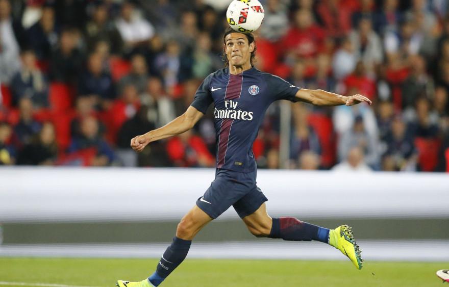 Edinson Cavani sous le maillot du PSG