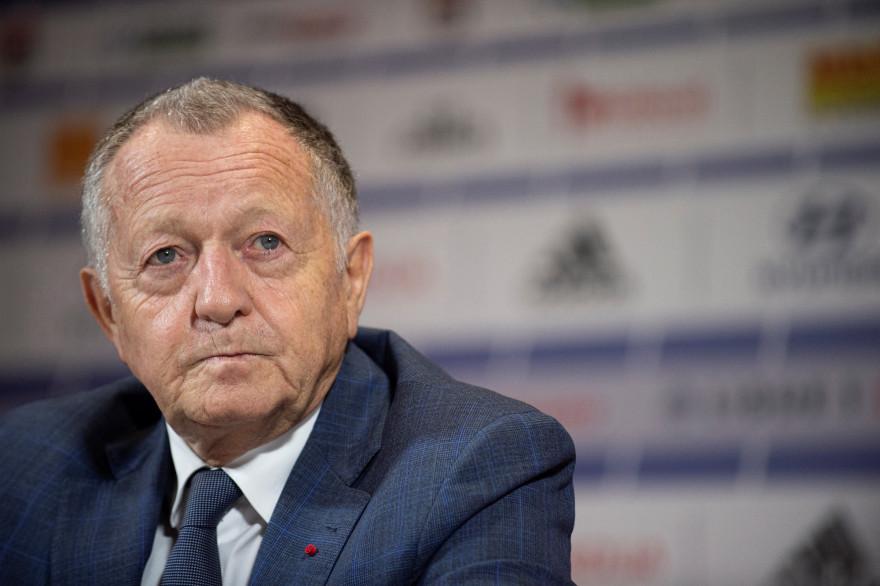 Le président de l'Olympique Lyonnais Jean-Michel Aulas