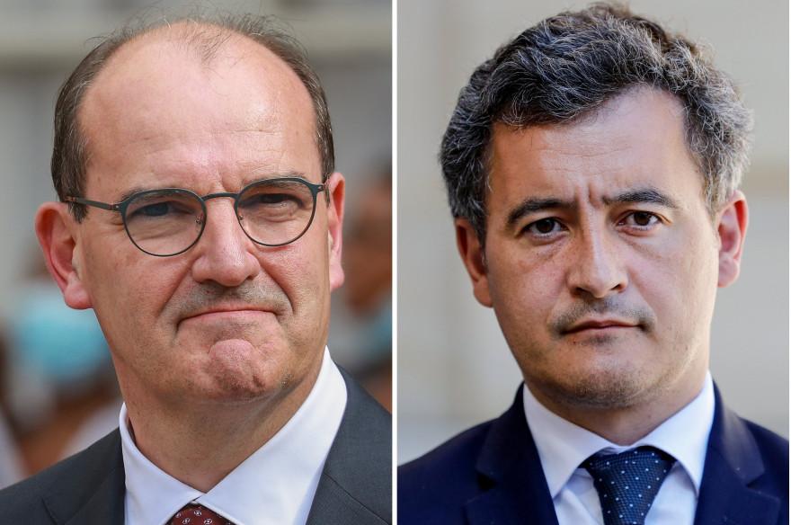 Le Premier ministre Jean Castex et le ministre de l'Intérieur Gérald Darmanin